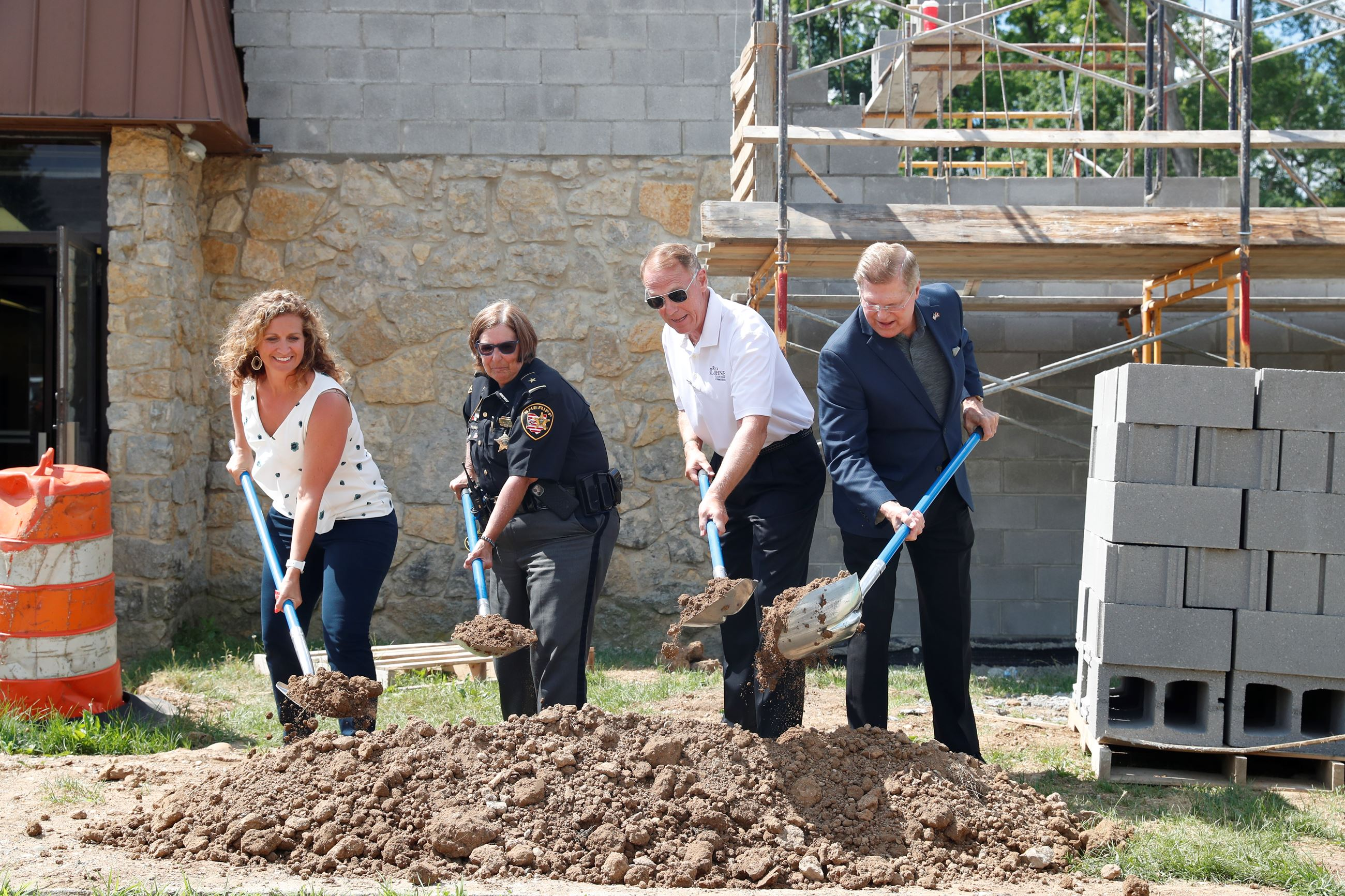 Clark County Commissioners and Sheriff Deb Burchett break ground on the new 9-1-1 Communications Cen