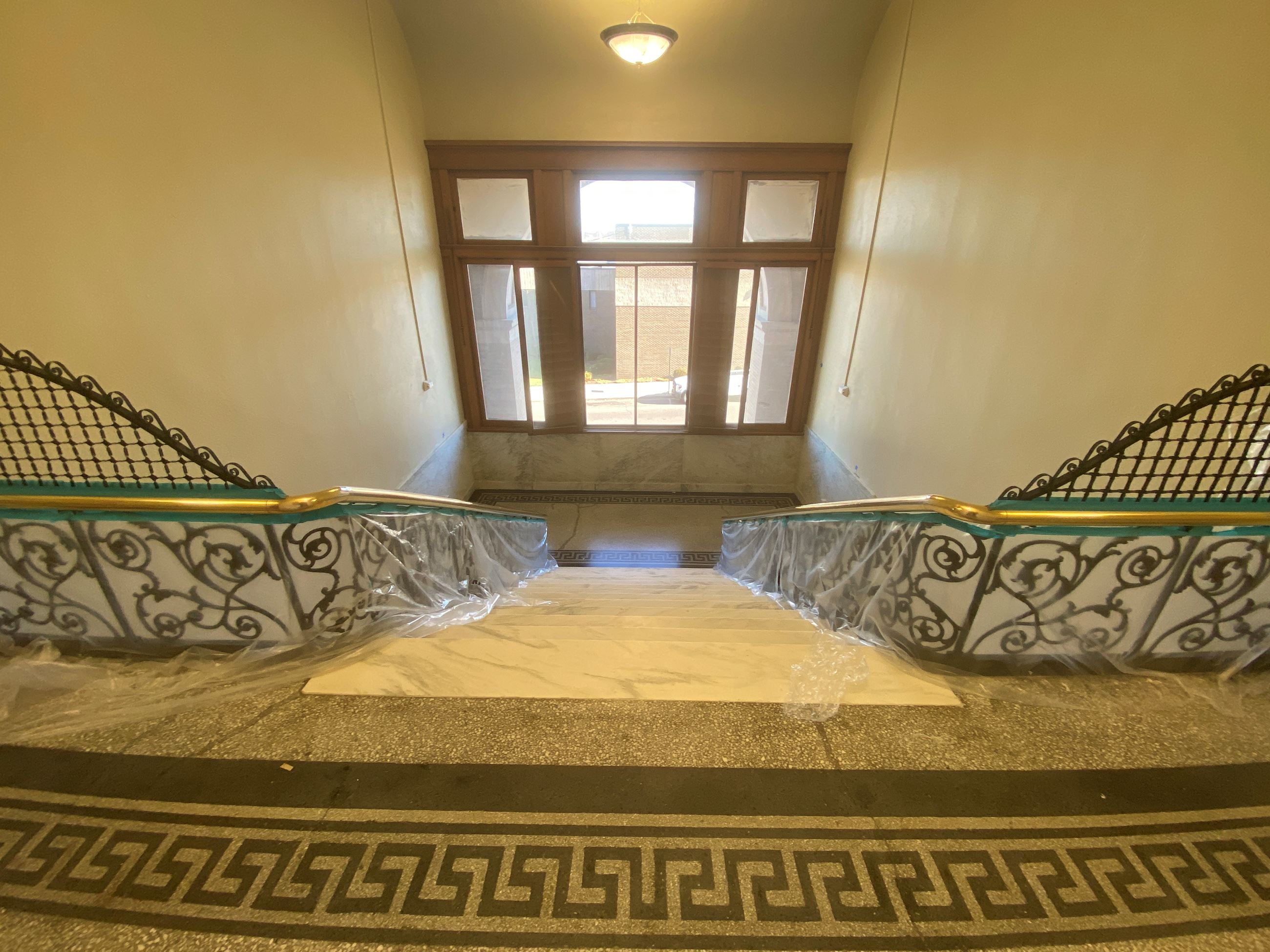 A.B. Graham interior hallway and staircase photo