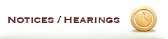 Notices - Hearings
