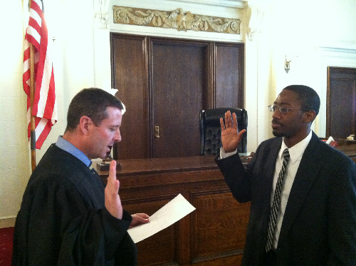 Thad's swearing in